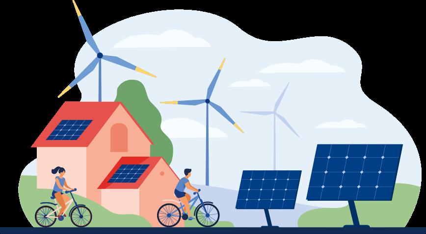 ilustracion comunidad energetica