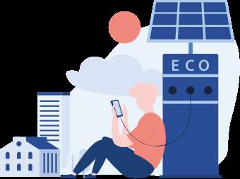 ilustración energía eco renovable