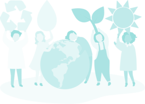 ilustración gente energía renovable