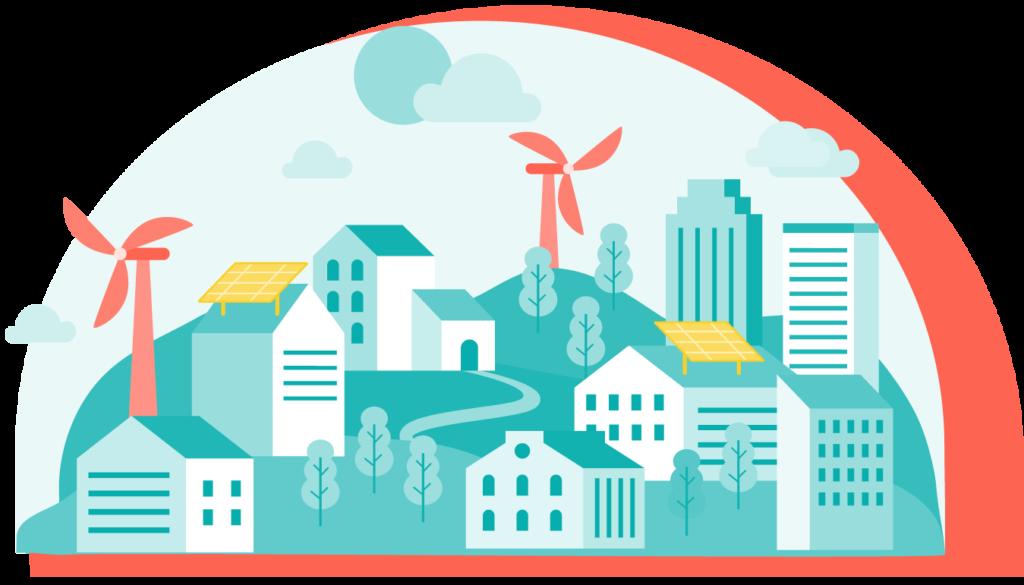 ilustración energía renovable